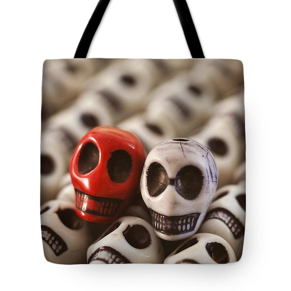 Crimson And Cream Tote Bag by Mike Herdering
