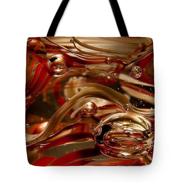 Crimson And Gray Glass Macro Ws4 Tote Bag by David Patterson