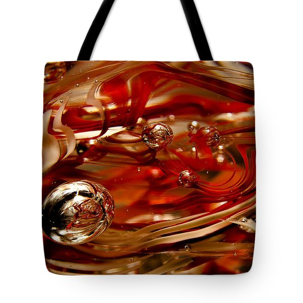 Crimson And Gray Glass Macro Ws6 Tote Bag by David Patterson