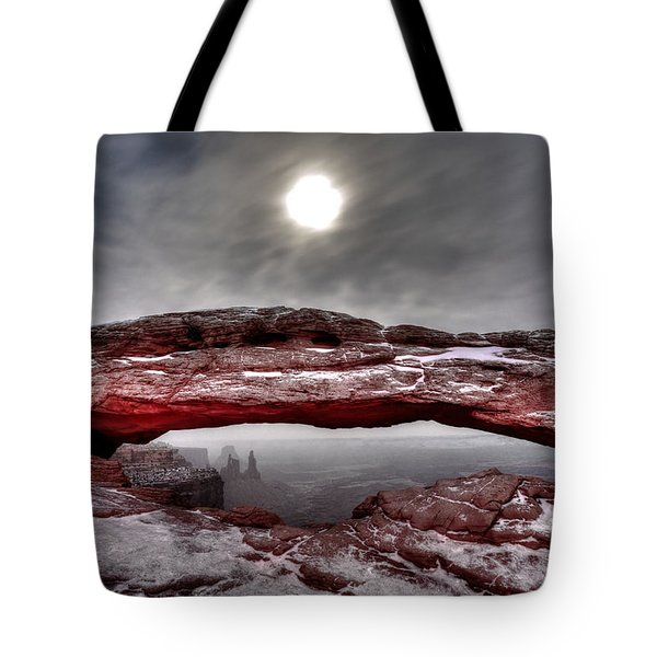 Tote Bag featuring the photograph Crimson Arch by David Andersen