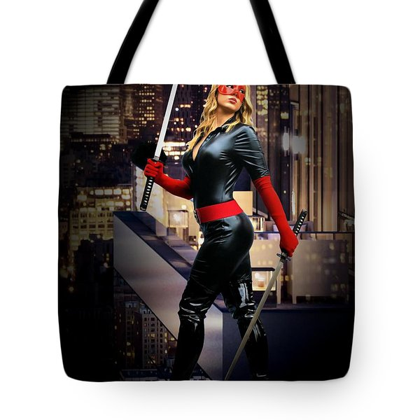Crimson Avenger The Penthouse Watch Tote Bag