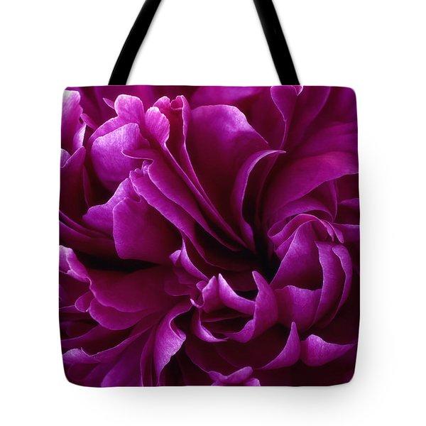 Crimson Chiffon Tote Bag