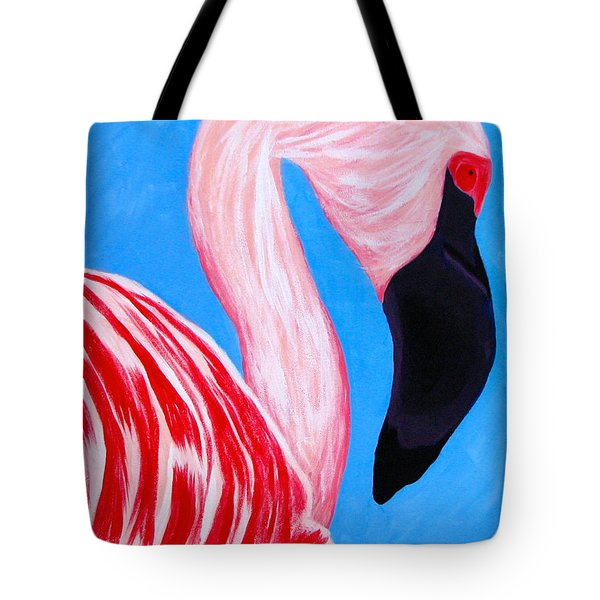 Crimson Flamingo Tote Bag