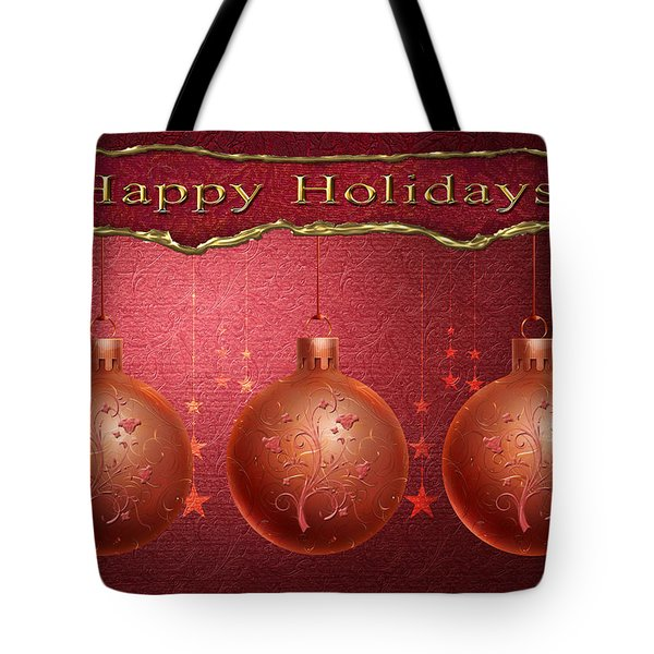 Crimson Ornaments Tote Bag by Arline Wagner