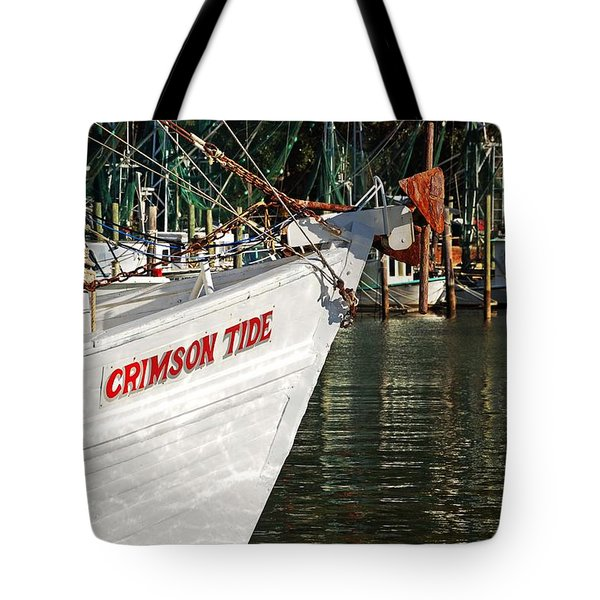 Crimson Tide Bow Tote Bag by Michael Thomas