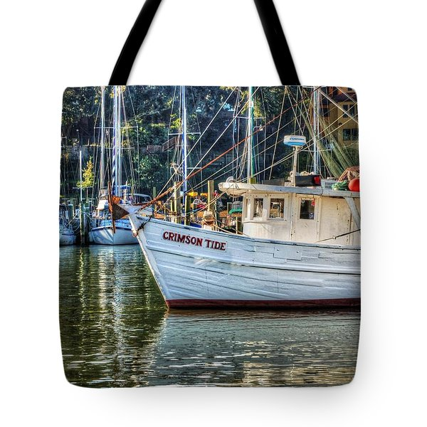 Crimson Tide In The Sunshine Tote Bag by Michael Thomas