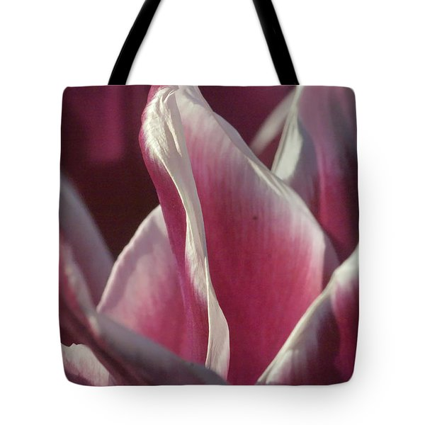Tote Bag featuring the photograph crimson Tulip by Rudi Prott