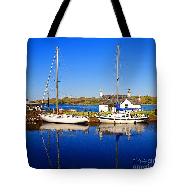 Tote Bag featuring the photograph Crinan Canal by Craig B