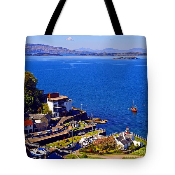 Crinan Harbour Scotland Tote Bag by Craig B