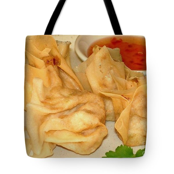 Tote Bag featuring the photograph Crispy Chicken Parcel by Katy Mei