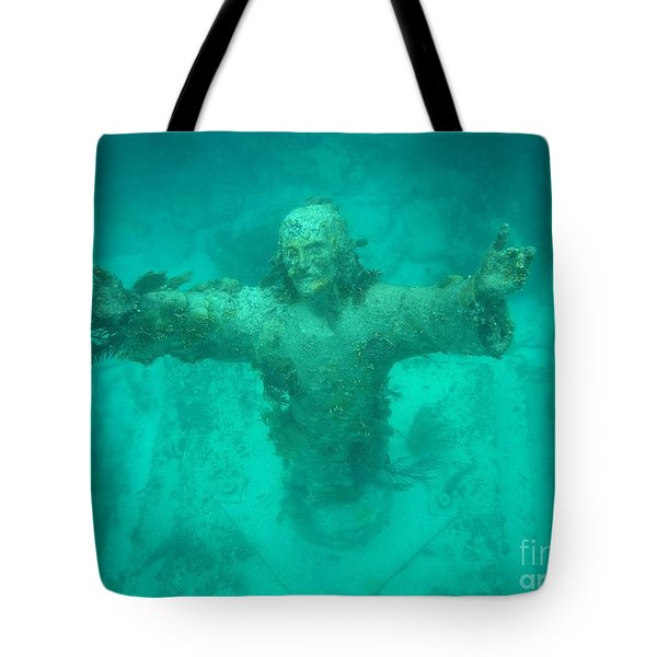 Crist Of The Abyss Tote Bag