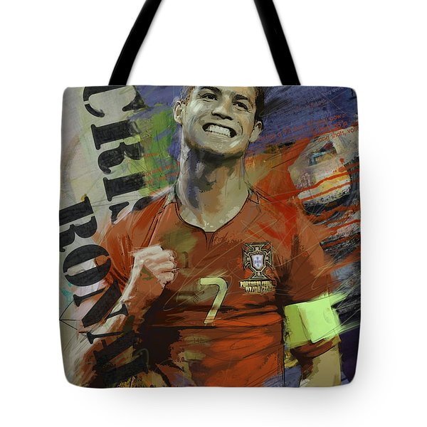 Cristiano Ronaldo - B Tote Bag by Corporate Art Task Force
