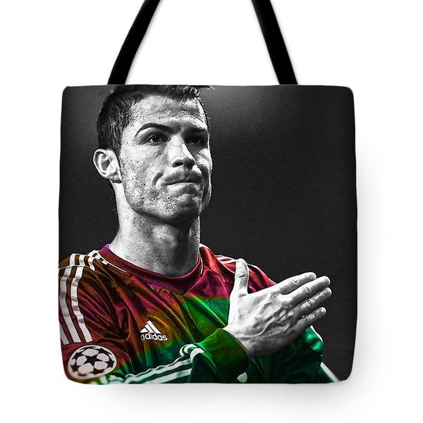 Cristiano Ronaldo Tote Bag by Marvin Blaine