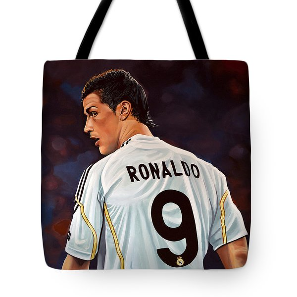 Cristiano Ronaldo Tote Bag by Paul Meijering