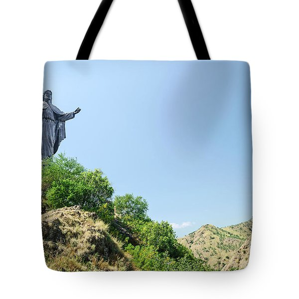 Cristo Rei Statue Near Dili East Timor Timor Leste Tote Bag