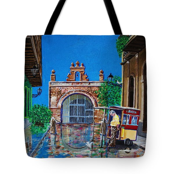 Capilla De Cristo - Old San Juan Tote Bag by The Art of Alice Terrill