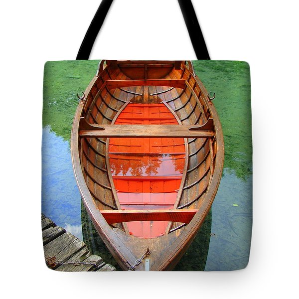 Tote Bag featuring the photograph Croatian Rowboat by Ramona Johnston
