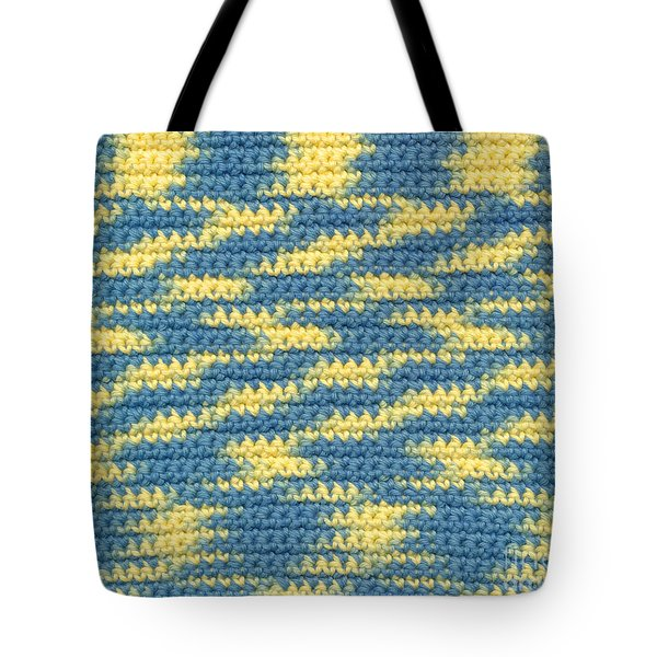 Crochet Made With Variegated Yarn Tote Bag by Kerstin Ivarsson