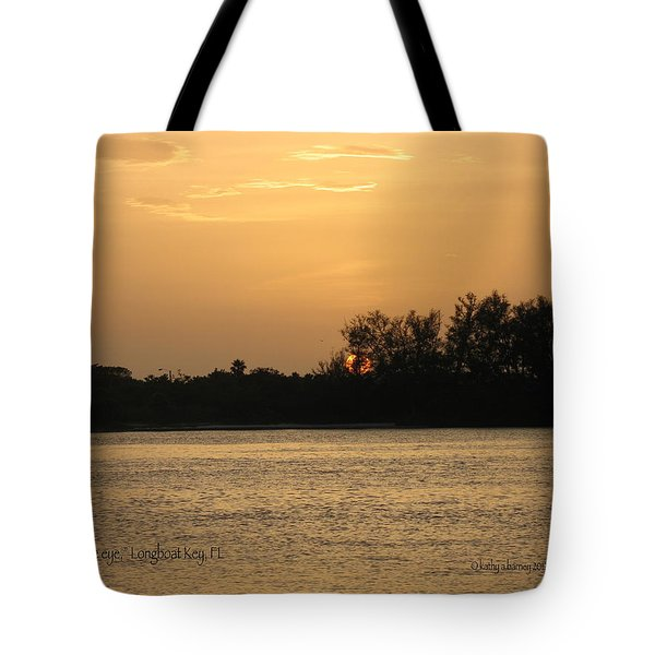 Tote Bag featuring the photograph Crocodile Eye by Kathy Barney