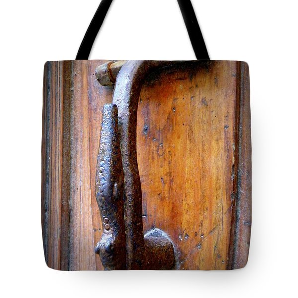 Crocodile Knock Tote Bag by Lainie Wrightson