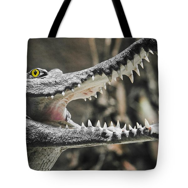 Croc's Shiny Whites Tote Bag by Rich Collins