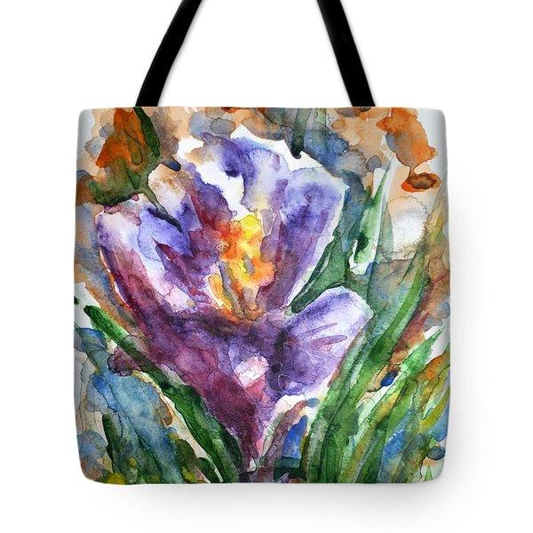 Crocus  Tote Bag by Zaira Dzhaubaeva