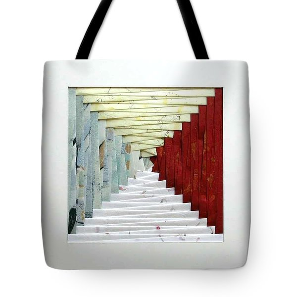 Crooked Staircase Tote Bag by Ron Davidson