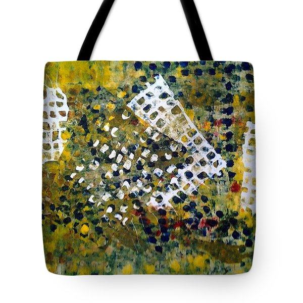 Tote Bag featuring the painting Crooked Trails by Lesley Fletcher