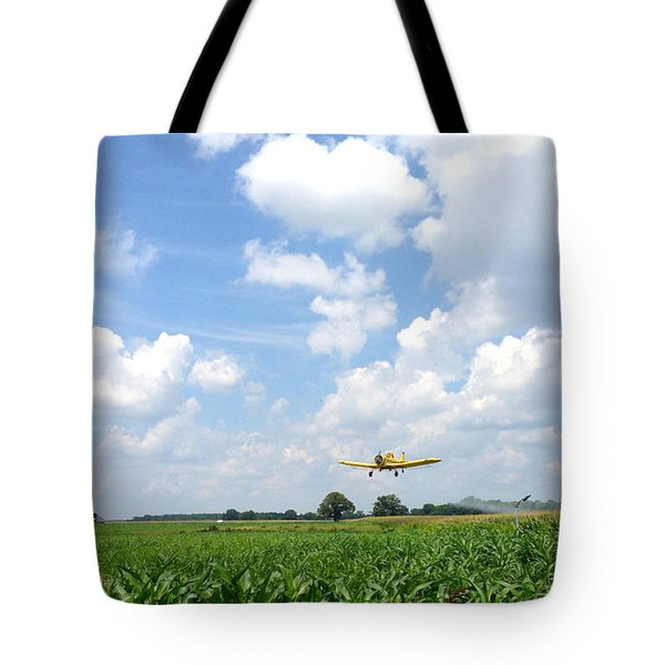 Yellow Crop Duster Tote Bag