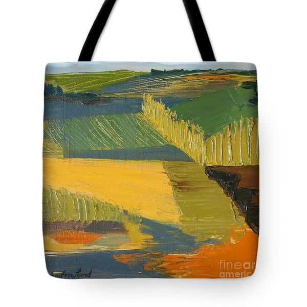 Tote Bag featuring the painting Crop Fields by Erin Fickert-Rowland