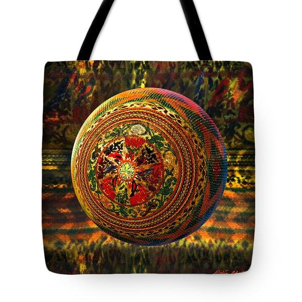 Croquet Crochet Ball Tote Bag by Robin Moline