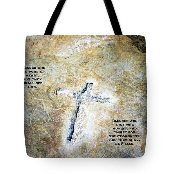 Cross And The Beatitudes Tote Bag