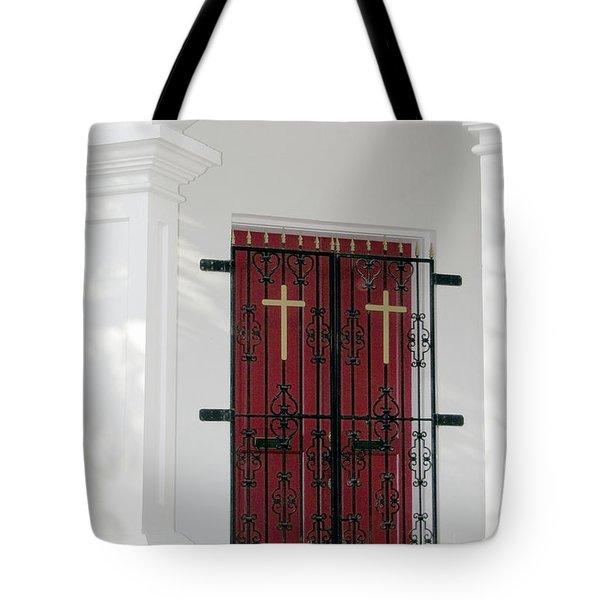 Key West Church Doors Tote Bag