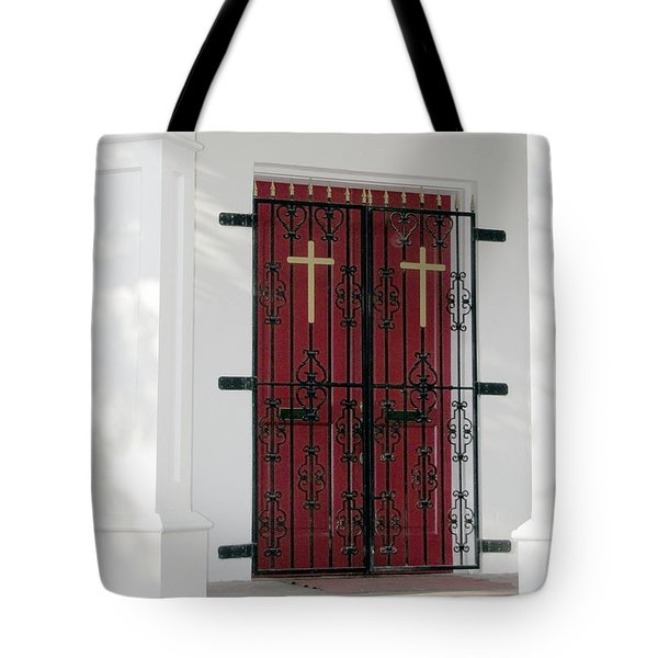 Key West Church Doors Tote Bag