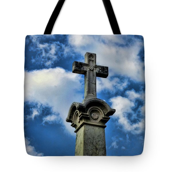Tote Bag featuring the photograph Cross Face 3 by Lesa Fine