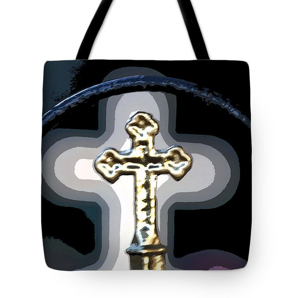Tote Bag featuring the photograph Cross On Lacombe Louisiana Cemetery by Luana K Perez