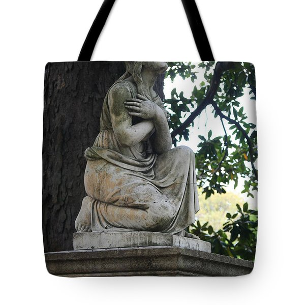 Tote Bag featuring the photograph I Cross My Heart Angel by Lesa Fine