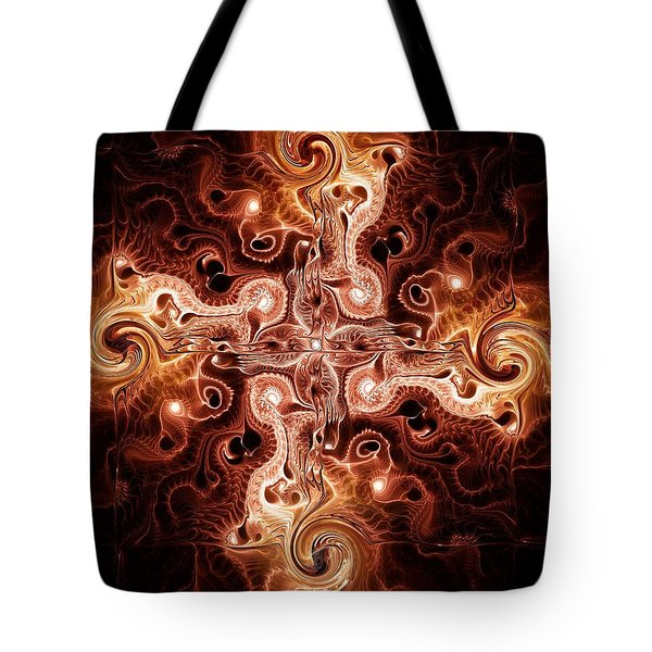 Cross Of Fire Tote Bag by Anastasiya Malakhova