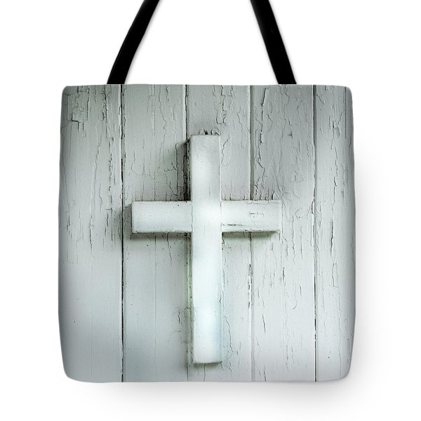 Cross On Holy Angels Sugar Island Michigan Tote Bag