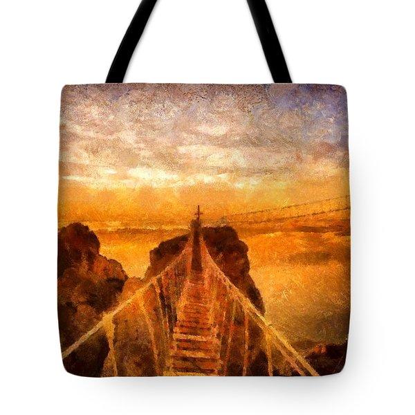 Cross That Bridge Tote Bag