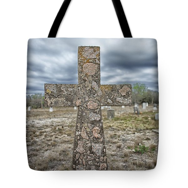 Cross With No Name Tote Bag by Erika Weber