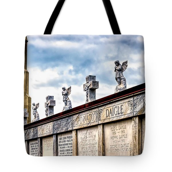 Crosses And Angels Tote Bag by Kathleen K Parker