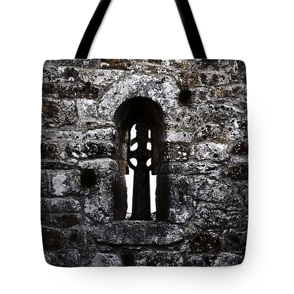 Crosses And Stone Walls At Clonmacnoise Tote Bag