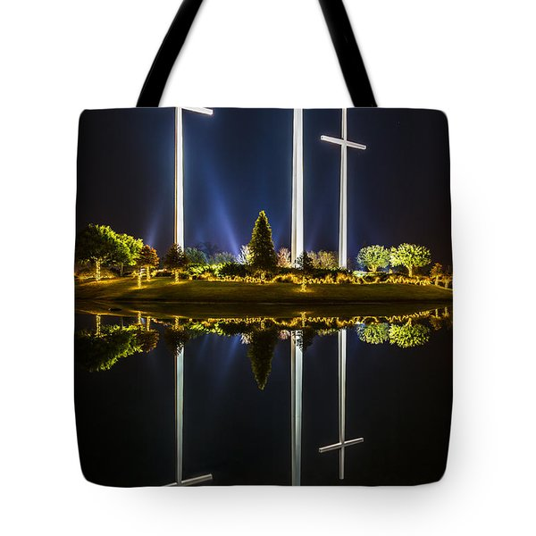 Crosses In Reflection Tote Bag