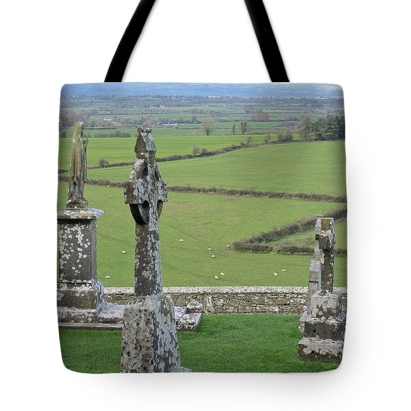 Crosses Of Cashel Tote Bag by Suzanne Oesterling
