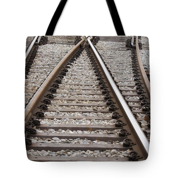 Tote Bag featuring the photograph Crossing by Beth Vincent