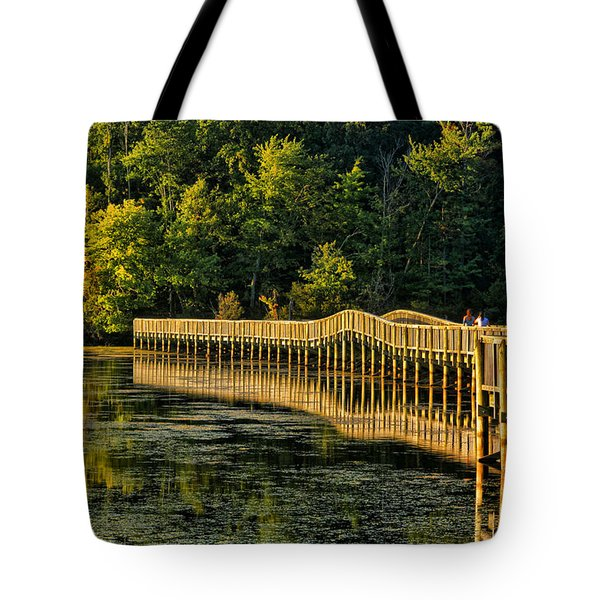 Crossing Into Autumn  Tote Bag