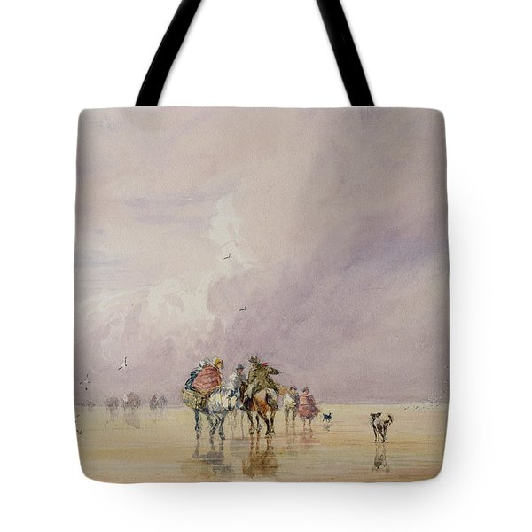Crossing Lancaster Sands Tote Bag by David Cox
