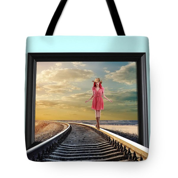 Crossing Over Tote Bag by Nina Bradica