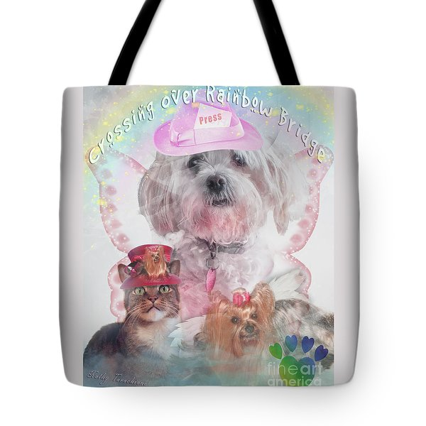 Crossing Over Rainbow Bridge Tote Bag